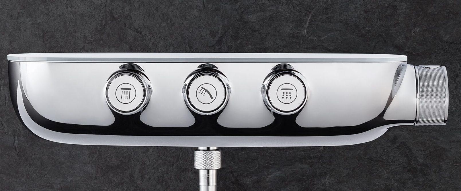 Thermostatarmatur mit verchromtem Zinkdruckgussgehäuse