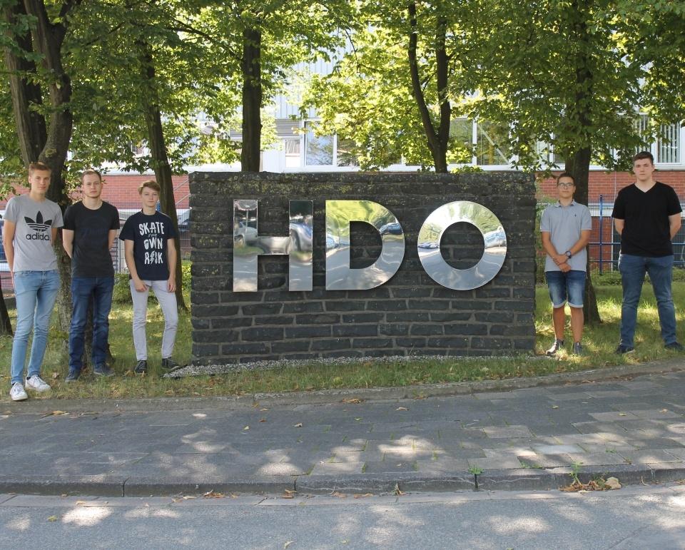 HDO Auszubildende beim Ausbildungsstart 2020