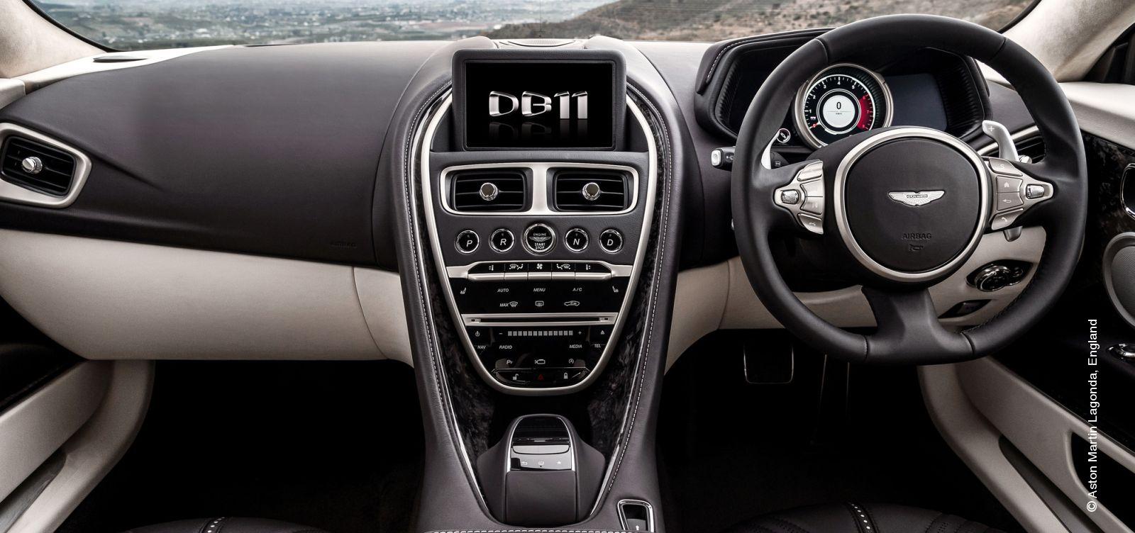 Console and decorative elements car interior