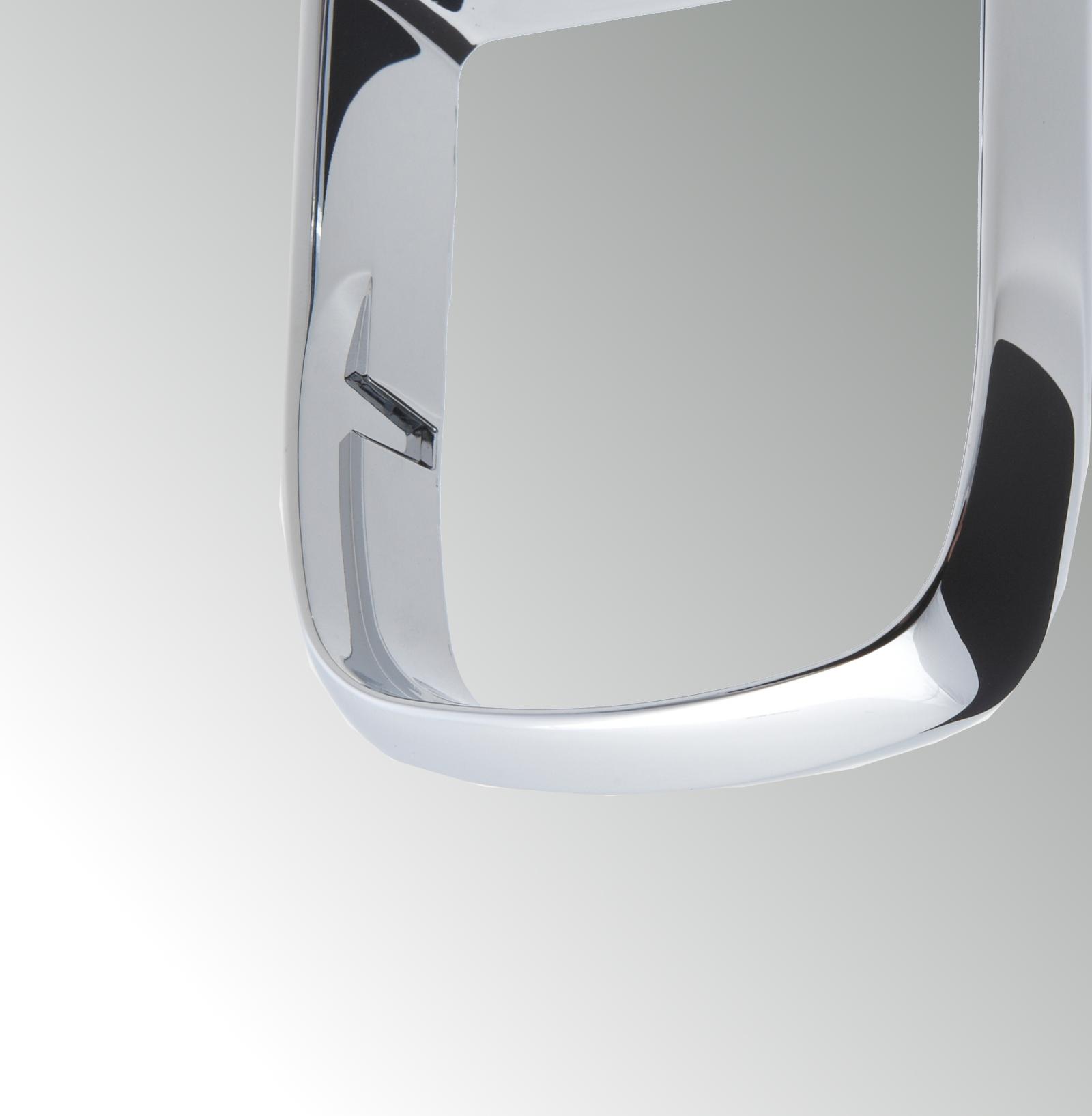 Glashalterrahmen aus Zinkdruckguss mit hochglanz verchromter Oberfläche für Badaccessoire