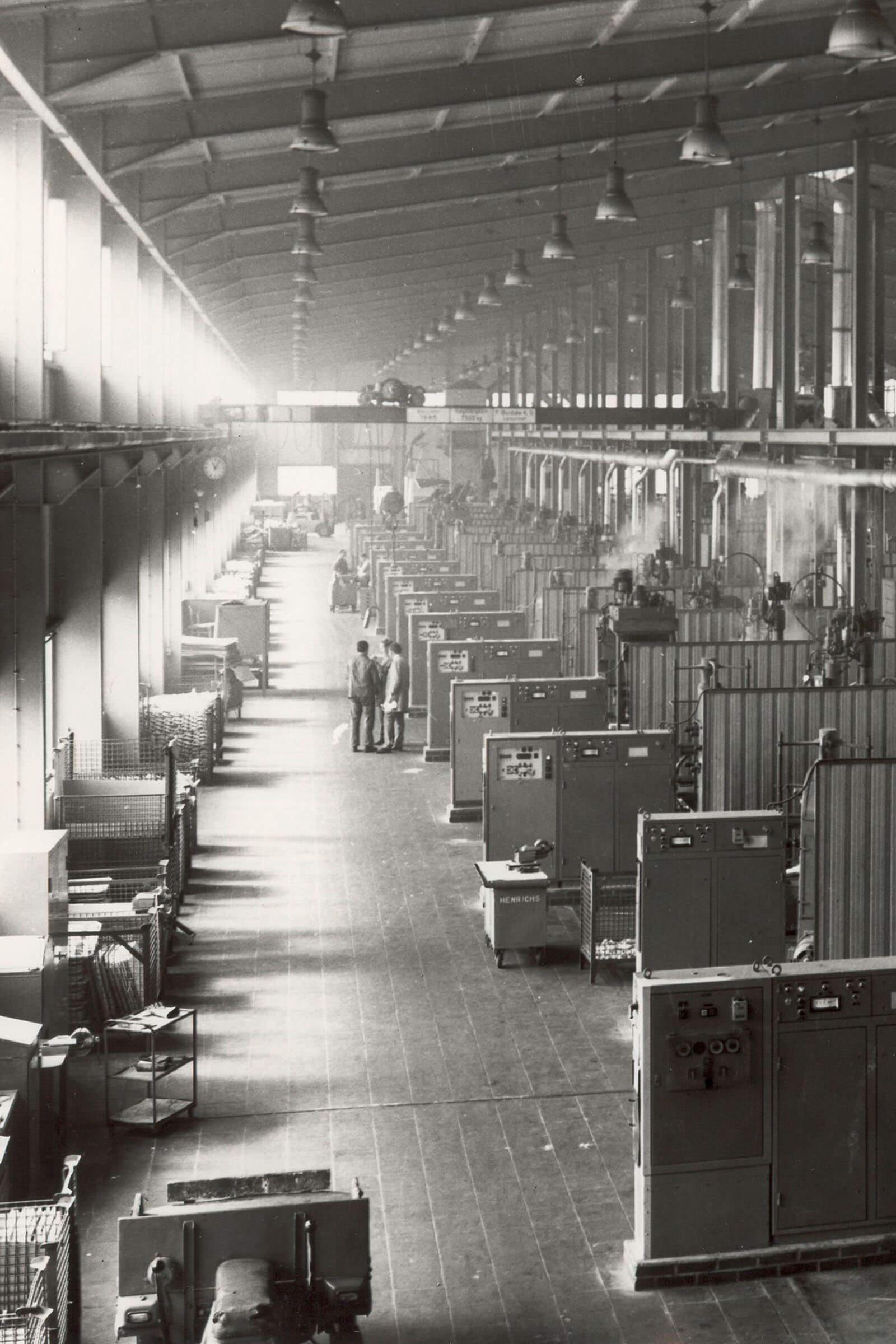 Die Gießereihalle der späteren HDO in den 1960er Jahren