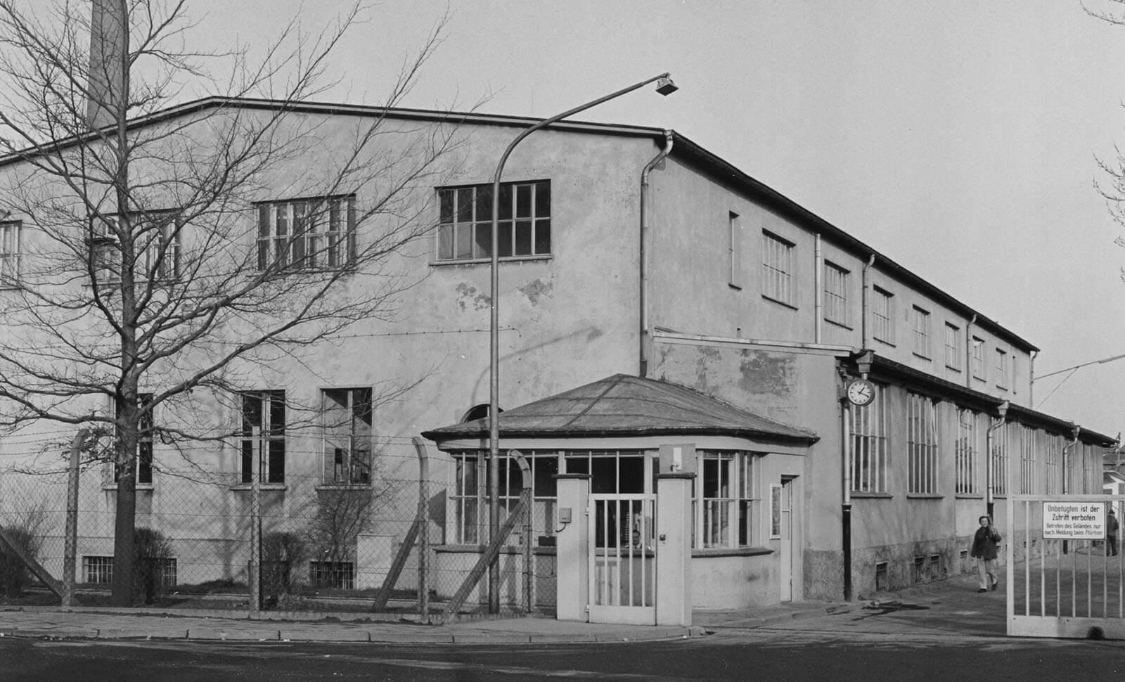 Das Gebäude der früheren Westfälischen Metallindustrie 1956